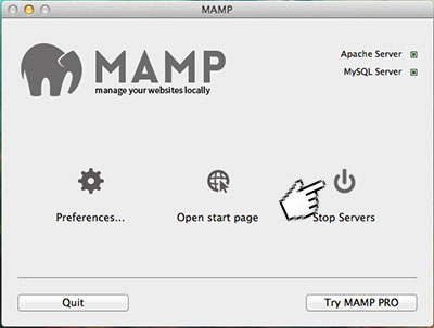 MAMP phpMyAdmin error #1045 after I changed my root password  Not