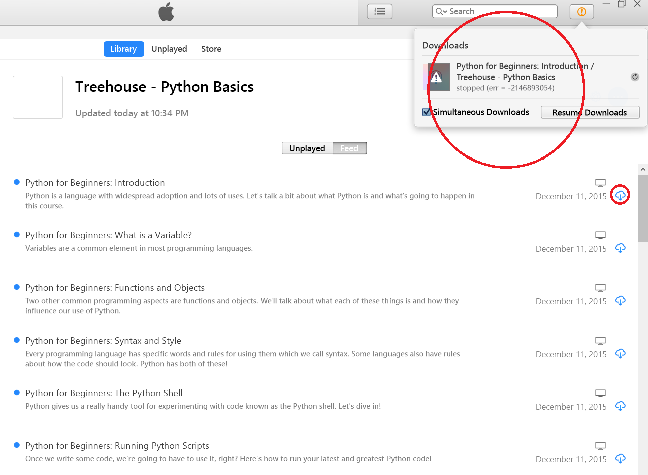 Having problem downloading using iTunes | Treehouse Community